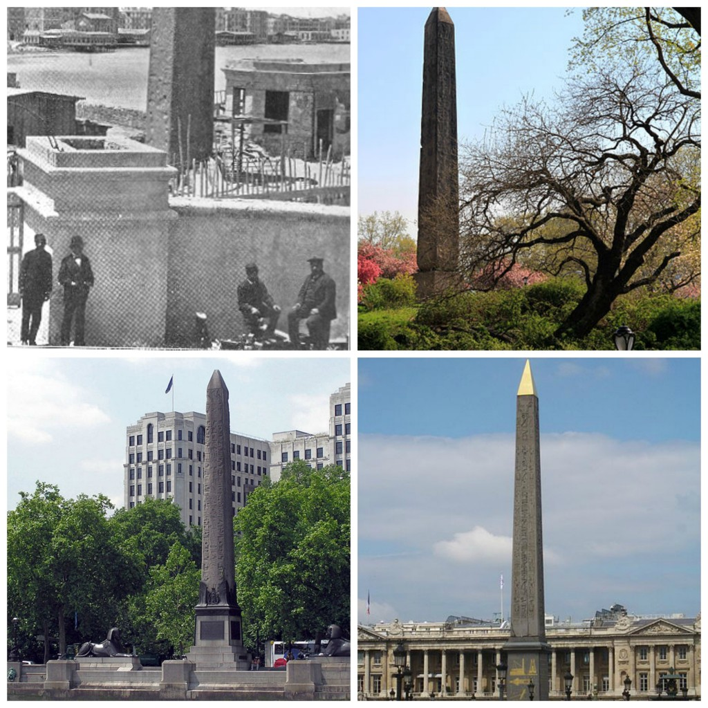 A story of some obelisks- found in Egypt and now residing in New York, London and Paris. Entitled Cleopatra's Needles, they all pre-date Cleo and the one in New York was erected by Hatshepsut