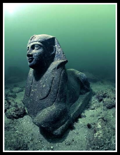 The remains of Cleopatra's kingdom have been discovered off the coast of Alexandria.