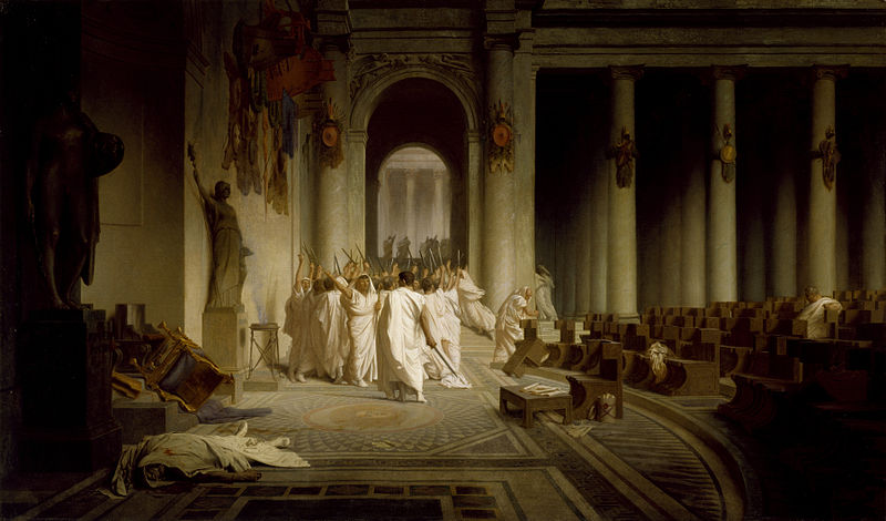 Death of Julius Caesar by Jean-Leon Gerome