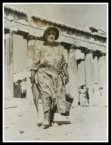 Agatha at the Acropolis 1958. She looks so happy. (courtesy National Media Museum)