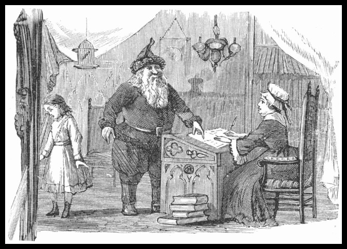 Illustration from Lills Travels in Santa Claus Land 1878 (Courtesy Gutenburg.org)