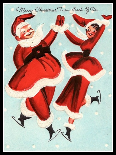 Mrs Claus (we hope) appearing on a greeting card