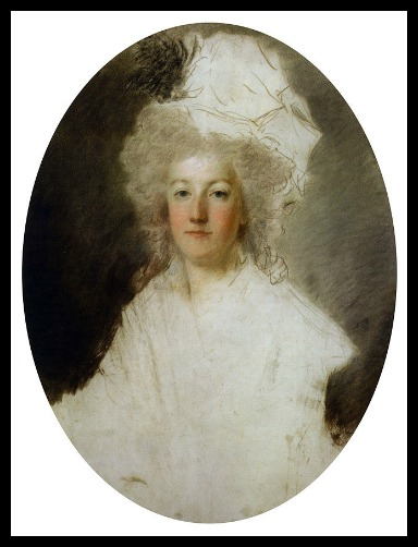 Unfinished portrait of Marie Antoinette while she was imprisoned by Alexander Kucharski.