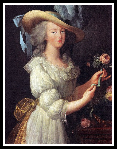 Marie in her softened years, by Louise Elizabeth Vigee Le Brun