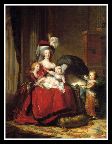 Portrait where baby Sophie was painted out (by Elizabeth Vigee Lebrun)