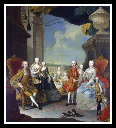 Go big or go home, 'eh Maria Theresa? So many children there wasn't room for them all. Martin Van Meytens 1754