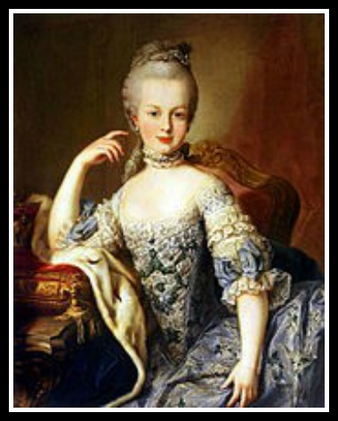 Marketing piece, um, portrait believed to be Marie Antoinette by Martin Van Meytens