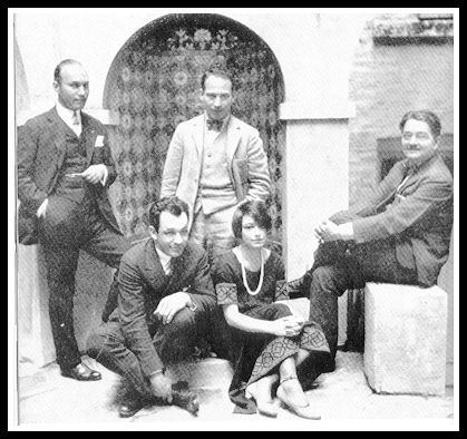 Round Table members Art Samuals, Charles MacArthur, Groucho Marx, Dorothy Parker and Alexander Wollcott