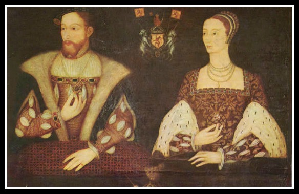 Papa King, James V, Mama Queen Marie de Guise, he was out of the picture pretty quickly. (unknown artist, wikimedia commons)