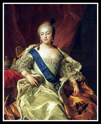 """You simply MUST meet my nephew!"" Empress Elizabeth circa 1760 VanLoo"