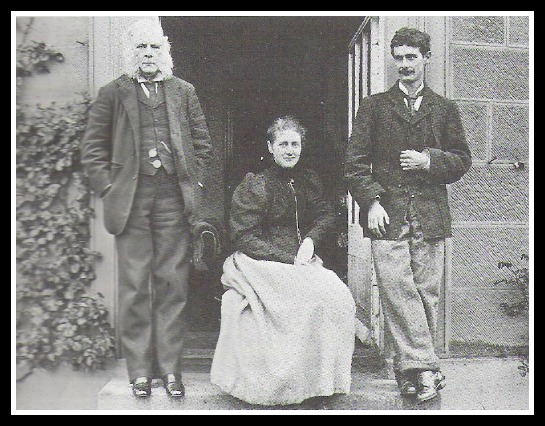 26 year old Beatrix with the only men in her life, her father and brother