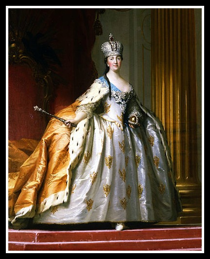 Catherine II coronation by V. Ericksen (wickimedia commons, public domain)