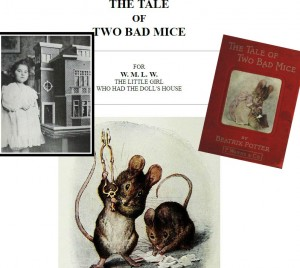 The dedication page for The Tale of Two Bad Mice...and the girl it was dedicated to!