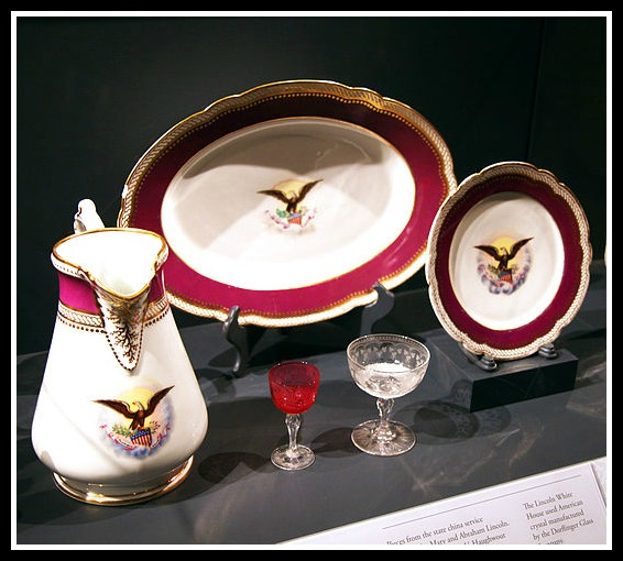 The Lincoln china is the first State Dinner Service chosen entirely by a First Lady. (Smithsonian)