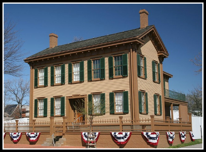 Lincoln home 8th and Jackson in Springfield, IL (With Mary's improvements, of course.)