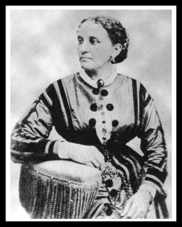 Elizabeth Keckley, former slave who bought her freedom and worked her way up to seamstress for Washington elite and confident of Mary Lincoln. We liked her so much (spoiler alert) we're going to cover her in the next episode.