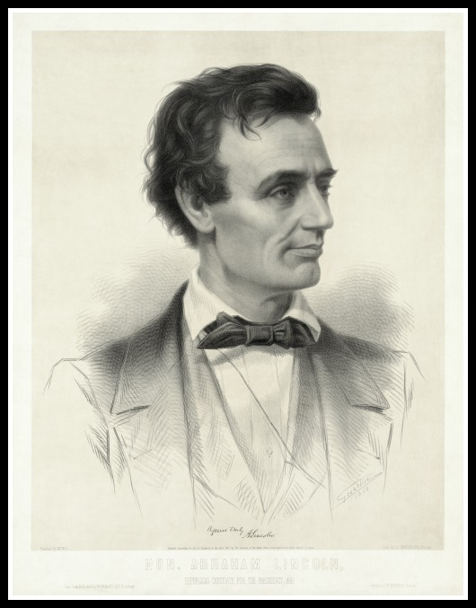 Presidential candidate ad card of Alan Alda...er, Abe Lincoln