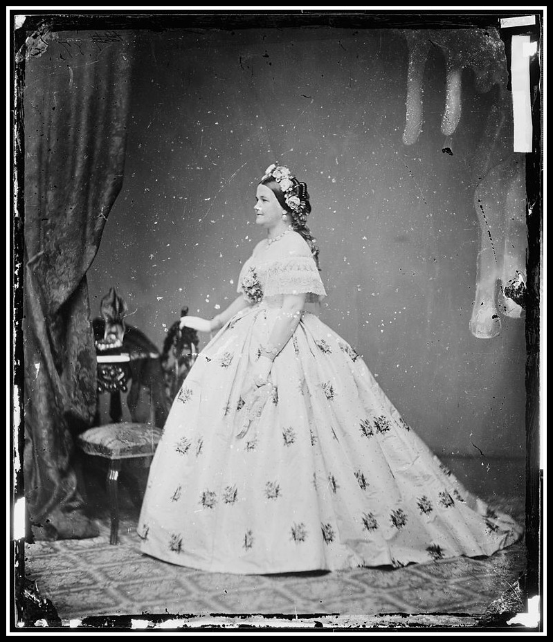 Mary Lincoln in a Lizzy Keckly dress, 1861