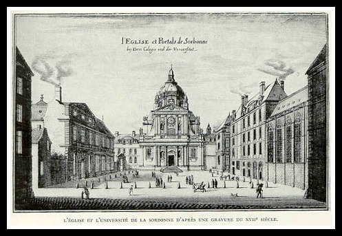 The Sorbonne (about a hundred years before Marie got there, but this is a great print, don't you think?)