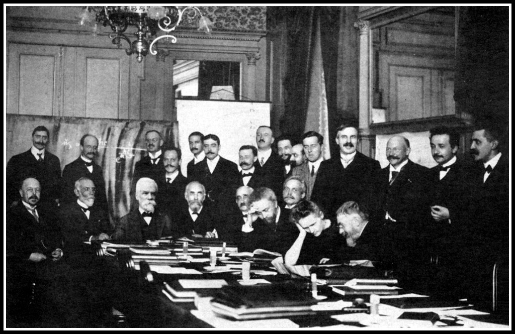 1911 Solevay Conference (Marie, only woman, Paul0-standing far right next to Albert Einstein.