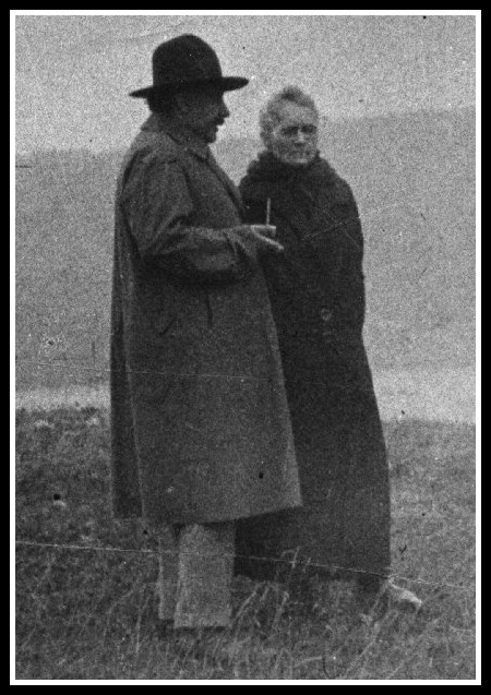 Marie and her walking pal, Albert Enistein