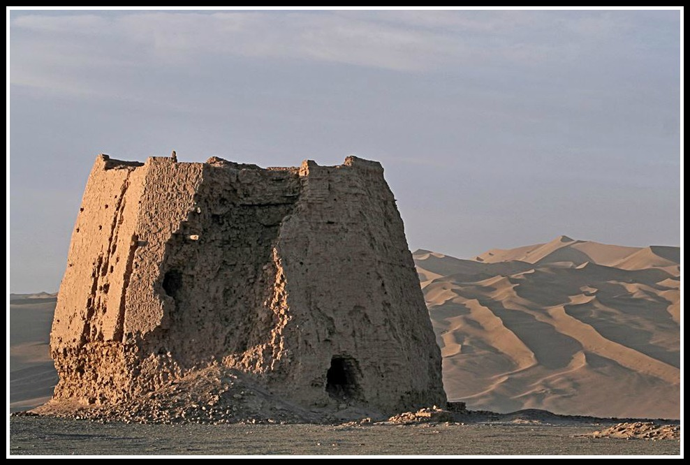 A watchtower from the era that Mulan's story can be traced, the Han Dynesty. wikicommons
