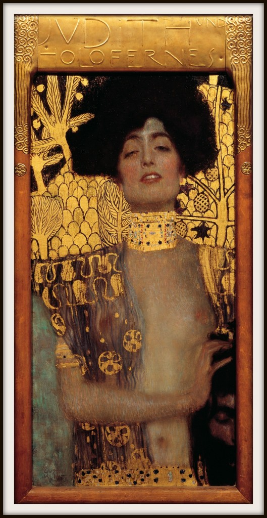 Artists love this story...this is Gustav Klimt's Judith I from 1901