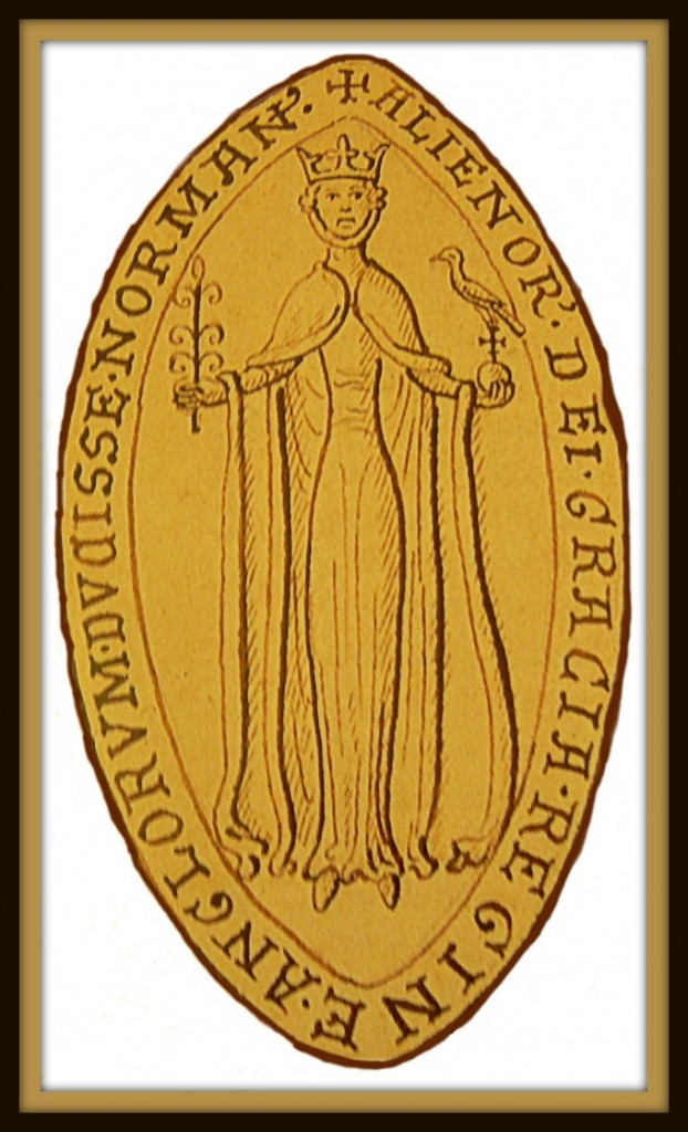 Eleanor's fancy new seal and one of the few illustrations of her